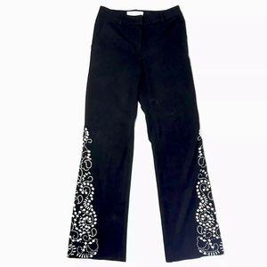 St John Collection Embellished Black Dress Pants